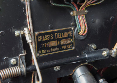 1948 Delahaye Type 135 M Three Position Drophead Coupé plaque constructeur - Goodwood Bonhams 2019