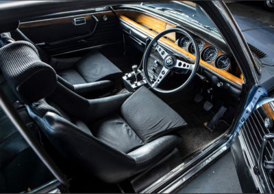1972 BMW 3.0 CSL Coupé vue plongeante côté conducteur - Goodwood Bonhams 2019