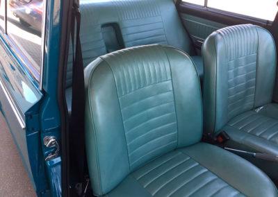 1969 Fiat 125 vue intérieure