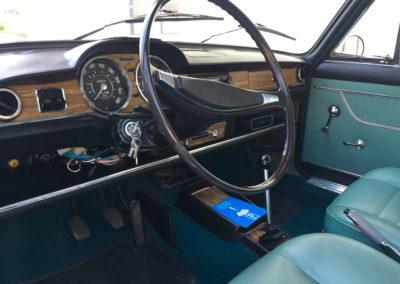 1969 Fiat 125 vue tableau de bord