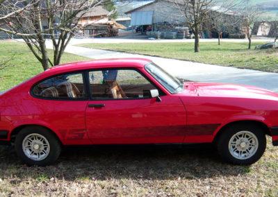 1980 Ford Capri vue latérale côté droit