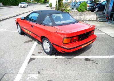 1988 Toyota 2000 vue trois quarts arrière côté gauche