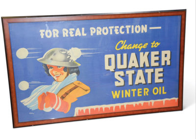 Change to Quaker State Winter Oil with Lady Cloth Banner - $ 500-$ 800