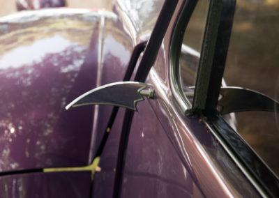 Citroën 2CV revu et corrigée style coupé très customisée détail du rétroviseur