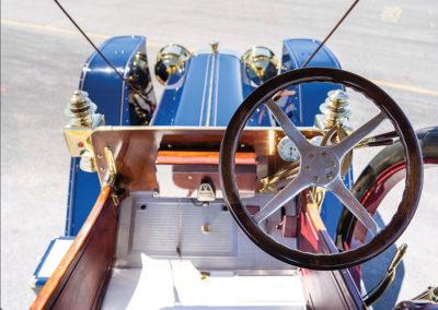 1908 Oldsmobile Limited Prototype position de conduite typique du début du 20e siècle - Hershey Auction.
