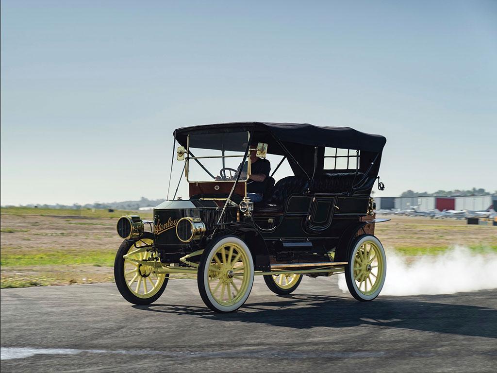 1908 Stanley Model M Five-Passenger Touring à toute vapeur pour la vente à Hershey.
