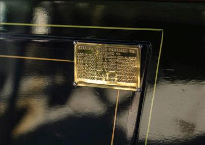1908 Stanley Model M Five-Passenger Touring la plaque d'identification constructeur - Hershey Auction.
