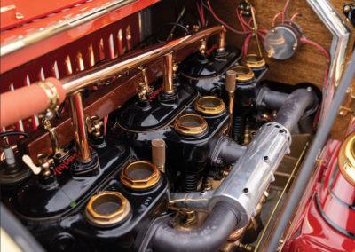 1912 Locomobile Model 48 M Five-Passenger Torpedo détail du moteur - Hershey Auction.