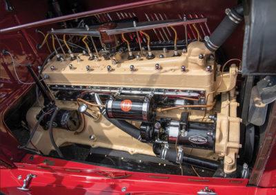 1929 Auburn 120 Eight Speedster détail du moteur Big Eight - Hershey Auction.