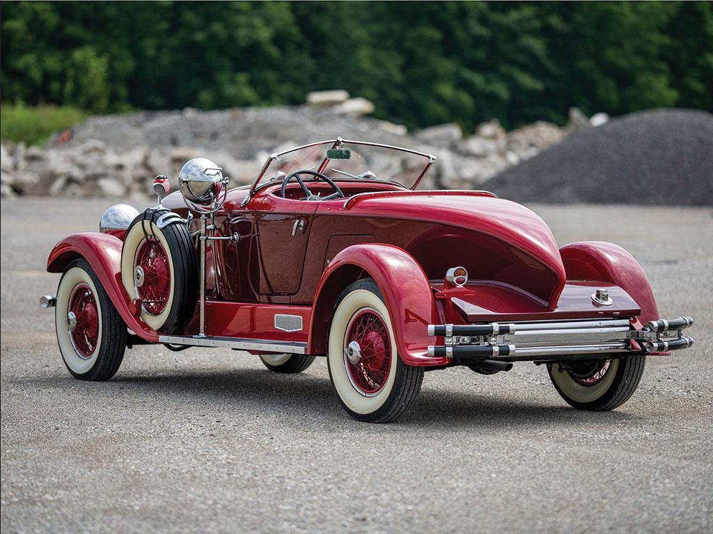 1929 Auburn 120 Eight Speedster vue trois quarts arrière droit - Hershey Auction.