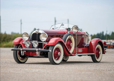 1929 Auburn 120 Eight Speedster vue trois quarts avant gauche - Hershey Auction.