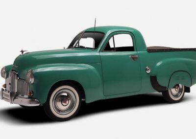 1952 Holden FX Utility vue de trois quarts avant gauche.