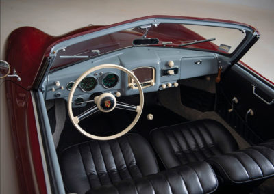 1952 Porsche 356 Cabriolet Gläser intérieur et tableau de bord - Taj Ma Garaj.