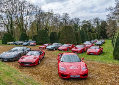 Parterre de Ferrari dans le parc du château de Vic-sur-Aisne.