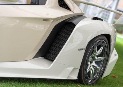 2014 Lamborghini Veneno détail de l'entrée d'air arrière