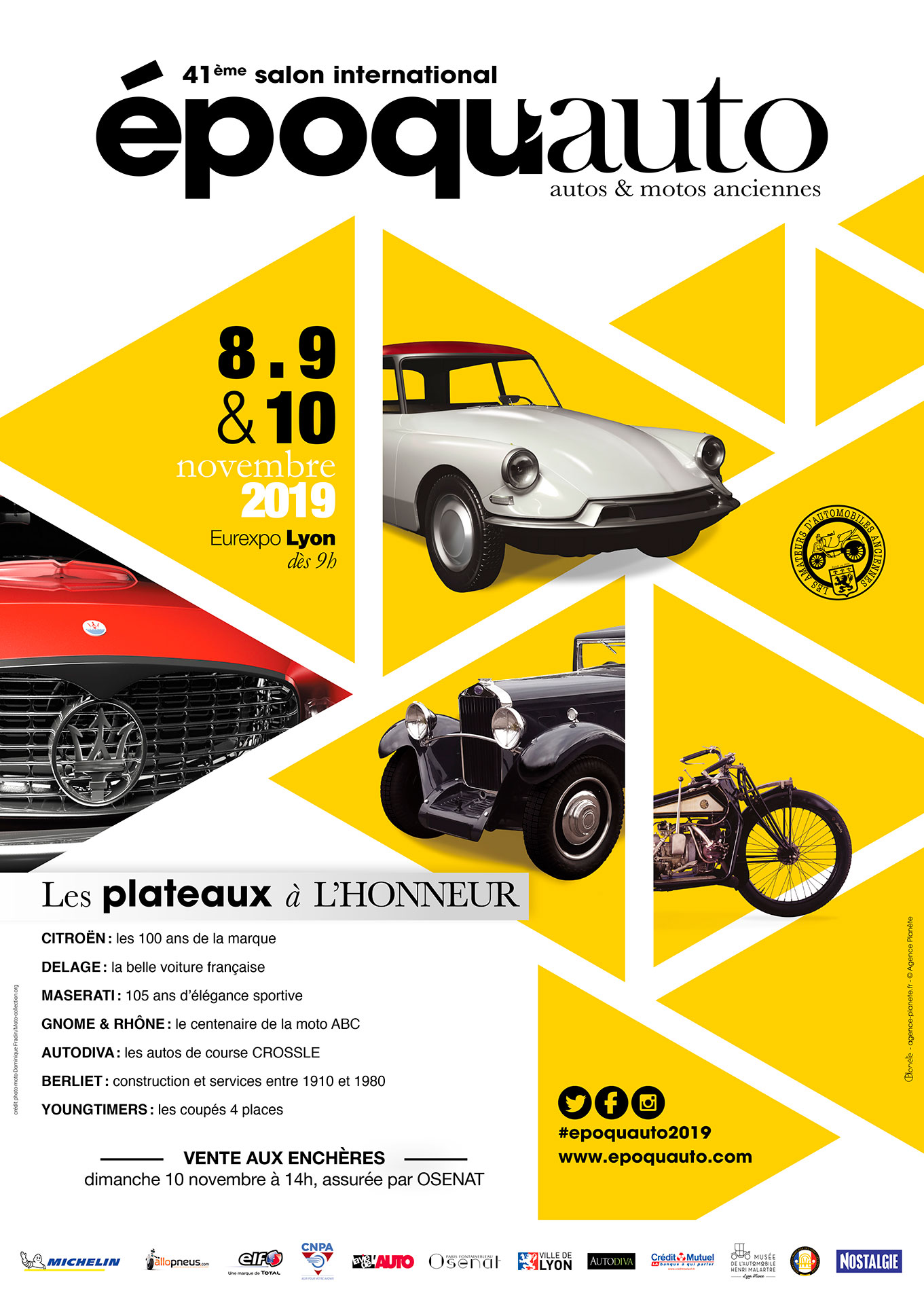 Affiche Époqu'Auto 2019.