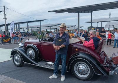 Concours d'État, Chevrolet Cabriolet 1934 vue trois quarts arrière gauche.
