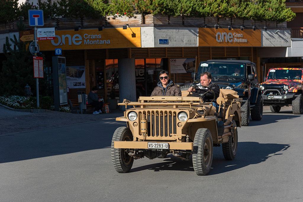 La Parade, Willys aux couleurs des Jeep SAS.