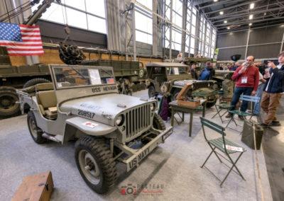 L'armée présente avec ses jeep et ses Dodge à Historic Auto.