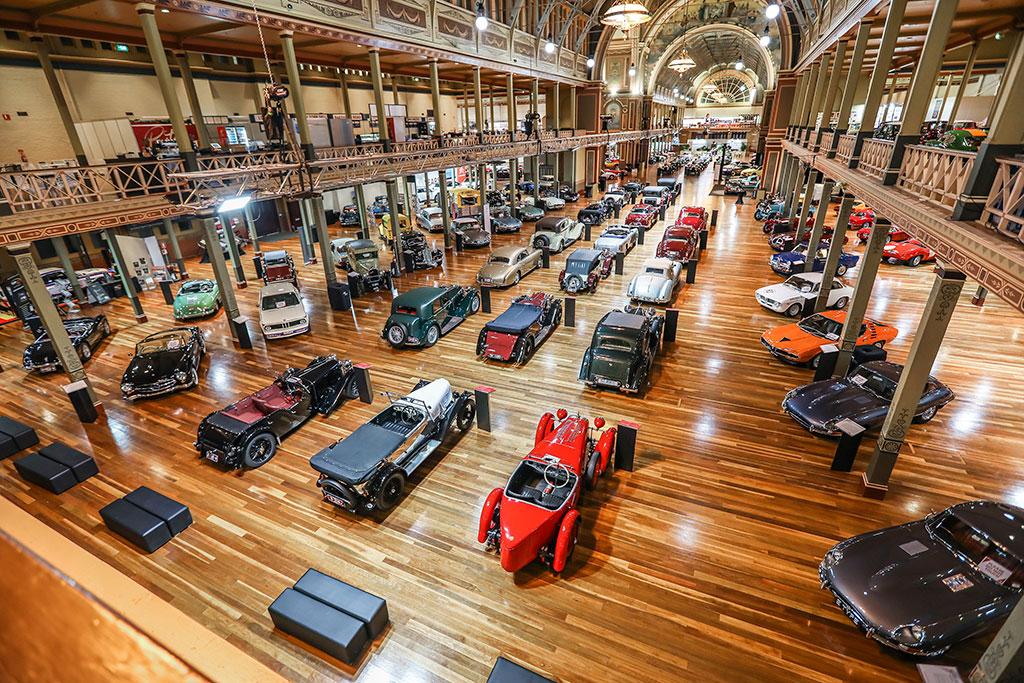 Motorclassica Melbourne 2019 - vue de l'exposition au Royal Exhibition Building.