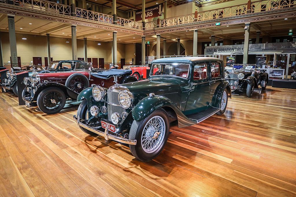 Motorclassica Melbourne 2019 - 100 ans d'Alvis - 1933 Alvis SA Speed 20 Saloon.