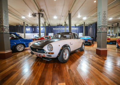 Motorclassica Melbourne 2019 - 70 ans d'Abarth - 1974 Fiat Abarth 124 Rally Stradale Spider with hardtop.
