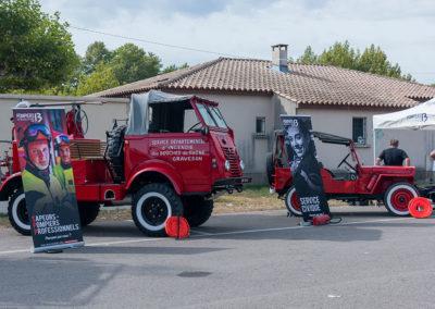 Renault et Jeep du Service Départementale des Bouches-du-Rhône
