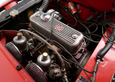 1957 MGA 1500 Mk1 Roadster vue moteur estimation AUD 35,000-45,000.