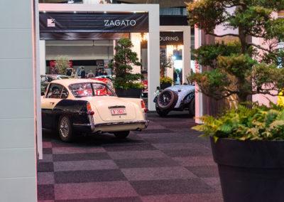 1955 Jaguar XK 140 vue arrière - Carrozzeria Ghia