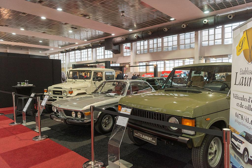 Toyota Land Cruiser ou BMW 3.0 CS ou Range Rover 3.5 L - À vous de choisir - InterClassics Brussels 2019.