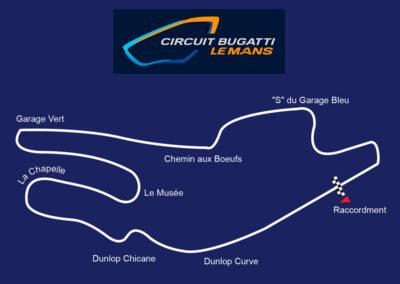 Tracé du circuit Bugatti Le Mans.