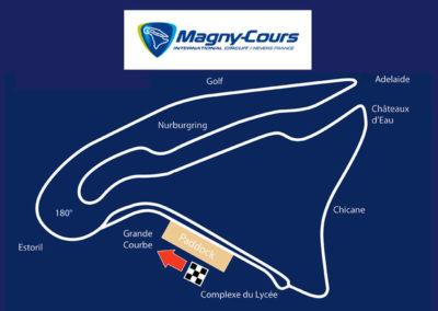 Tracé du circuit de Magny-Cours.
