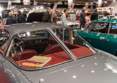 1962 Fiat 1600 S OSCA Fissore Coupé gros plan sur lunette split window - COG Classics