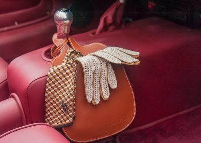 Gants de conduite pour femme, cuir Agneau et crochet couleur tabac.