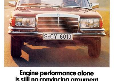 1972-1980 Mercedes-Benz 450 SEL 6.9 S-Class W116 Publicité.