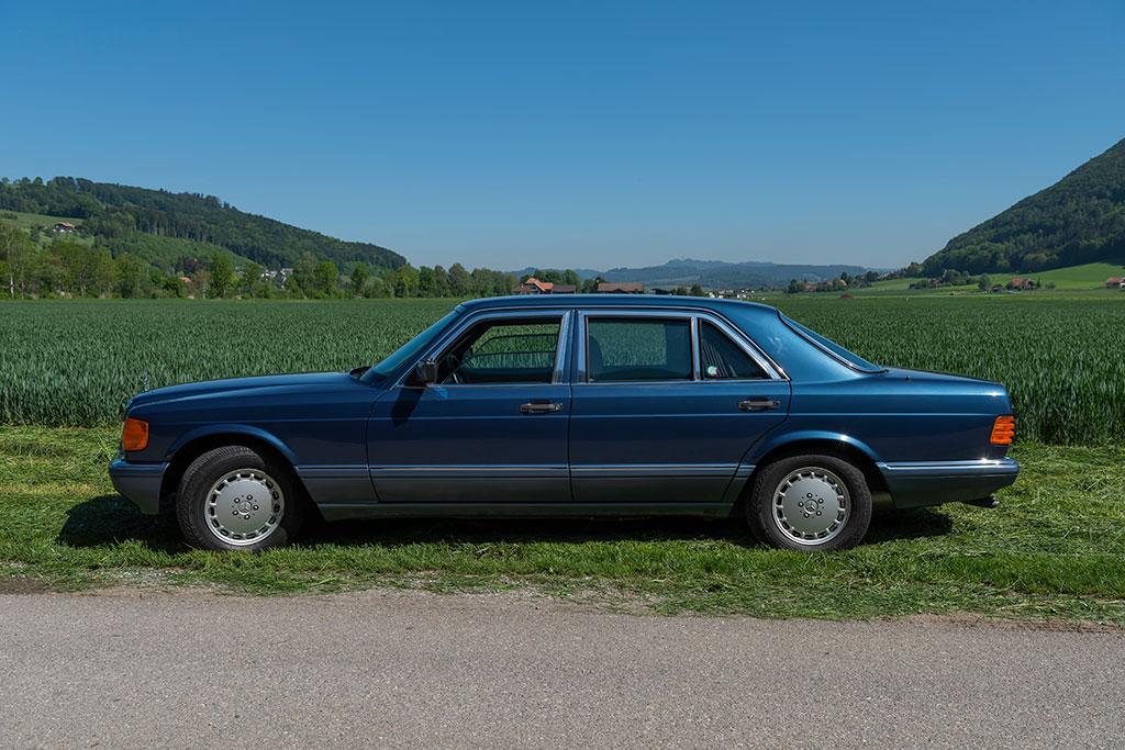 Mercedes-Benz 560 SEL - Dessin réalisé par l'équipe de Bruno Sacco.