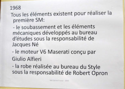 1968 Citroën SM éléments de réalisation