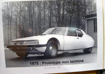 1975 Citroën SM prototype non terminé