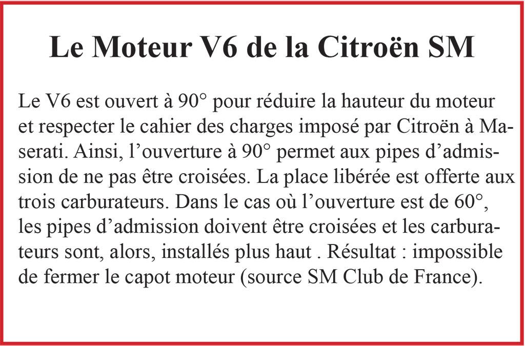 Citroën SM, un V6 a l'ouverture surprenante.