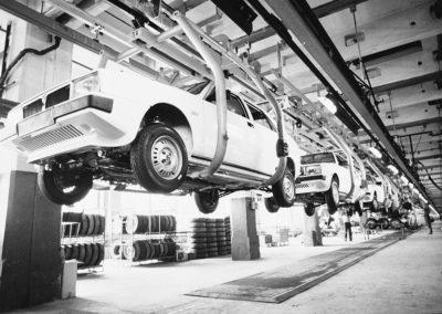 1982 Lancia Delta Lingotto chaîne de montage