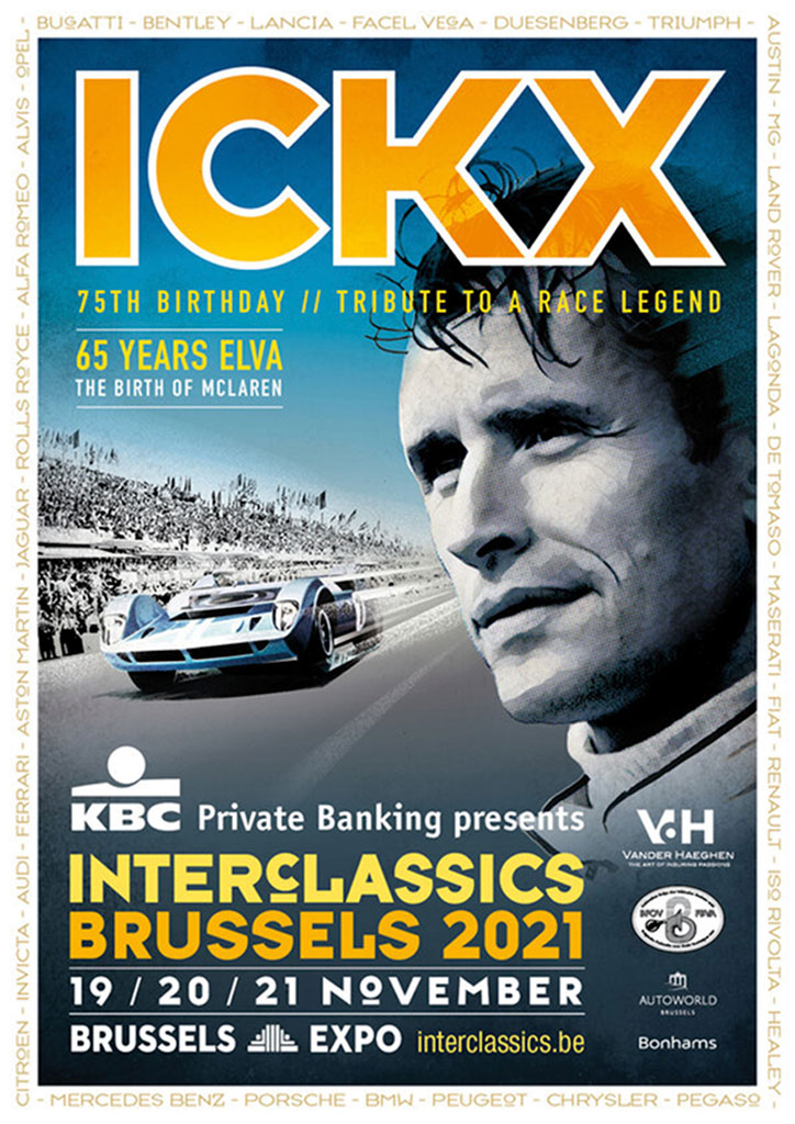 Affiche InterClassics Brussels 2021 - Jacky Ickx