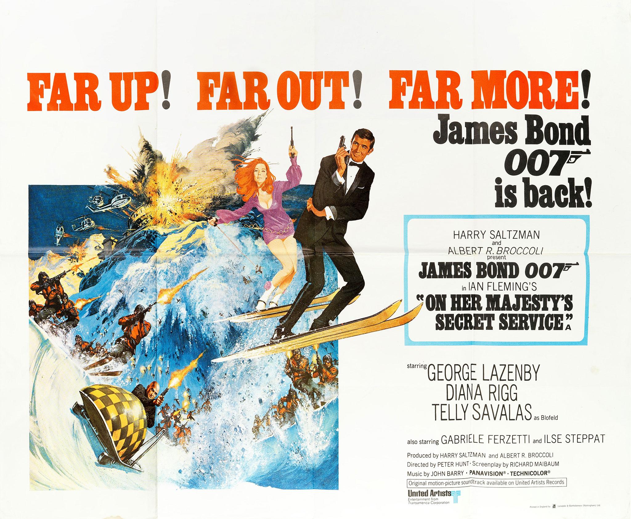 1969 On Her Majesty's Secret Service original James Bond film poster - Bonhams Bond Street Sale