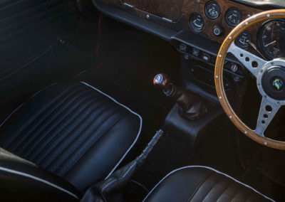 1968 Triumph TR5 détail du levier de vitesse.