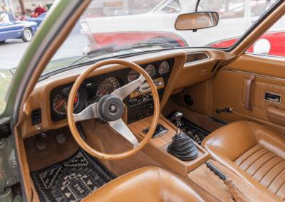 1969 Opel GT intérieur dans le style des années 60.
