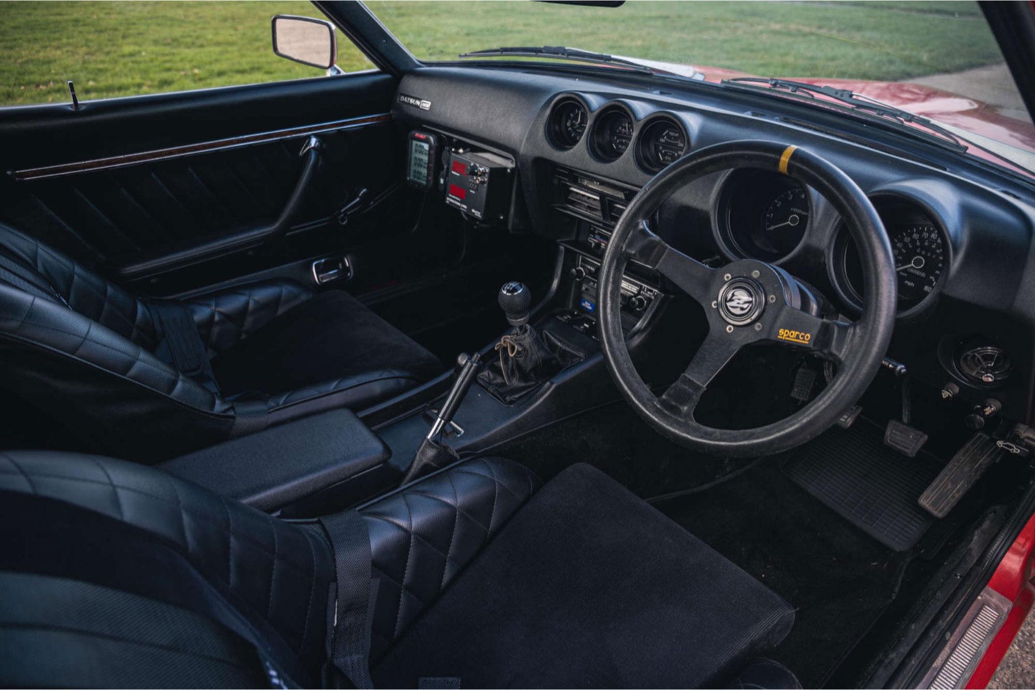 1979 Datsun 260 Z intérieur avant volant tableau de bord