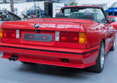 1991 BMW M3 E30 Cabriolet détail pare-chocs arrière.