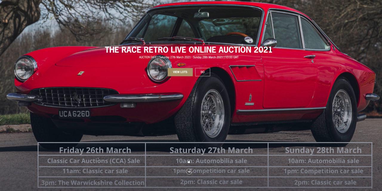 Un grand choix de véhicules à Silverstone Auctions mars 2021