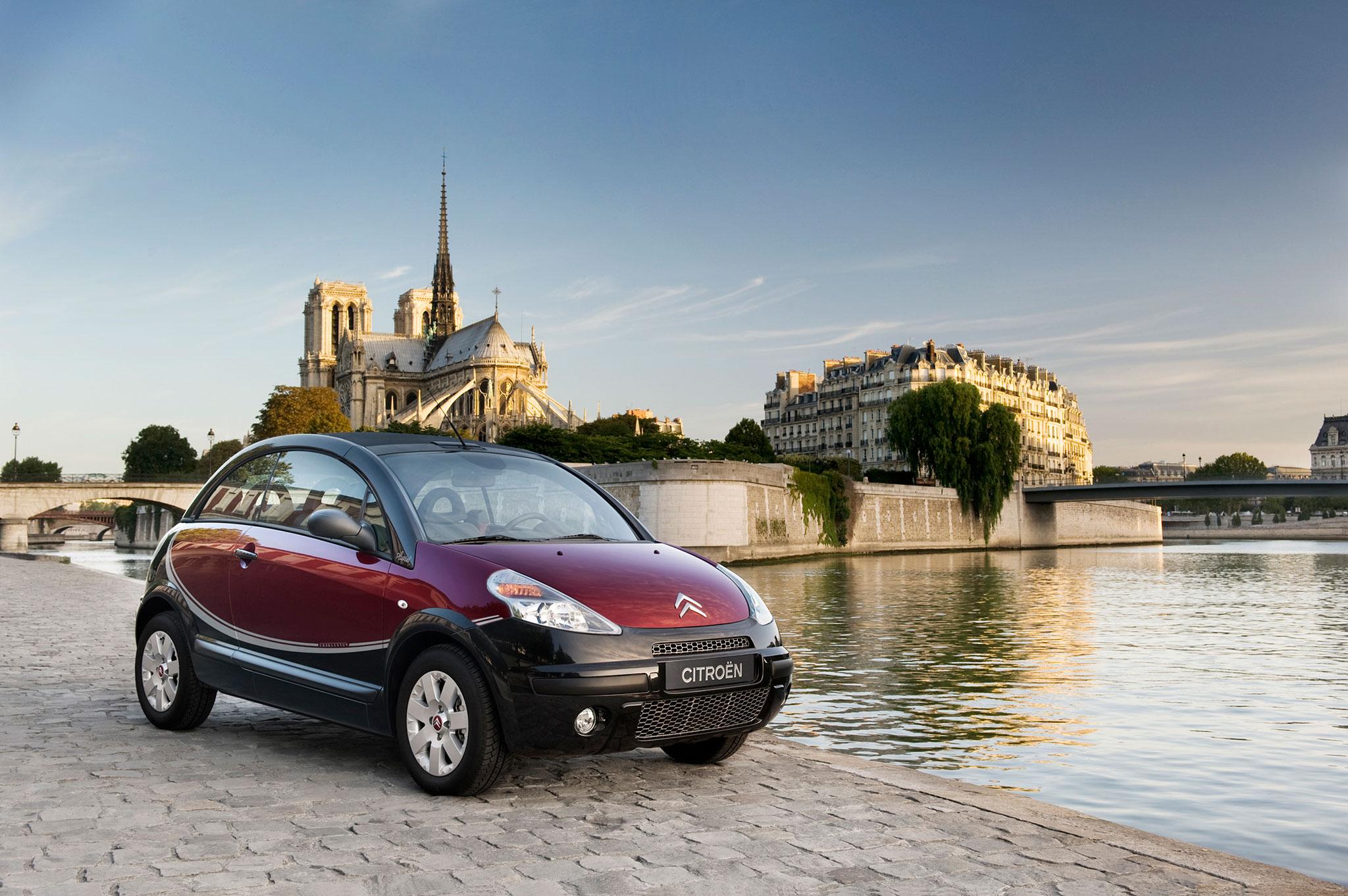 Citroën C3 Pluriel Charleston vue trois quarts avant droit @Lejeune.