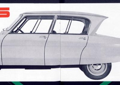1961 Citroën AMI 6 Berline brochure commerciale.