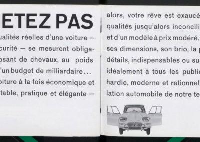 1961 Citroën AMI 6 Berline brochure commerciale Ne l'achetez pas.
